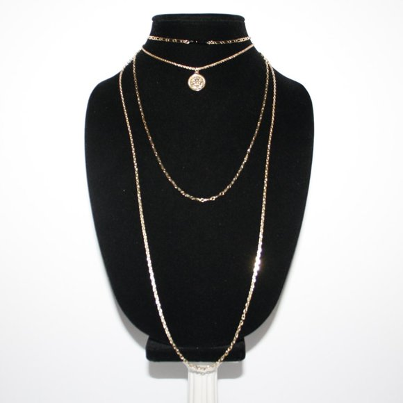 Beautiful layered gold coin necklace